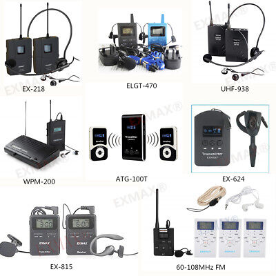 UHF/FM Wireless Tour Guide System Simultaneous Interpretation Translation System