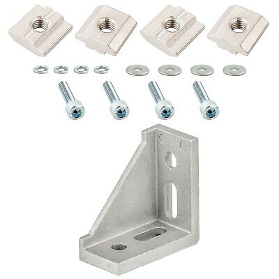 Unilateral Corner Joint Bracket for 4040 T-Slot Aluminium Profiles