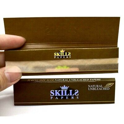 SKILLS Papers Unbleached Rolling Papers 108*45mm 10 Booklets=320 leaves smoking
