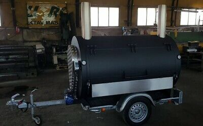 "Rotisserie Smoker Cooker Trailer BBQ Barbecue   ""BM-3"""