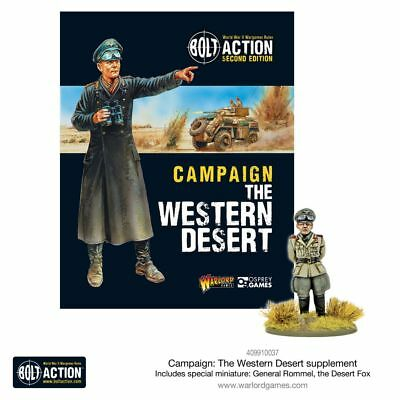 Warlord Games Bolt Acción Campaign Occidental Desierto (Inglés) Miniatura Rommel