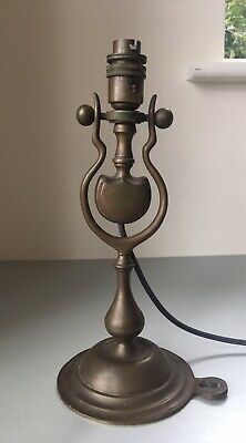 Antique Brass Marine Ship's Gimbal Table or Wall Lamp, Rewired