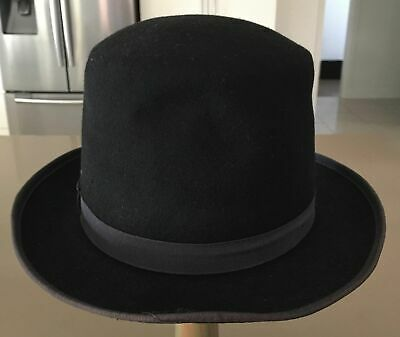 Mens Vintage J HATS AMERICANA COLLECTIONS  Black Top Hat Size L approx, 60cm