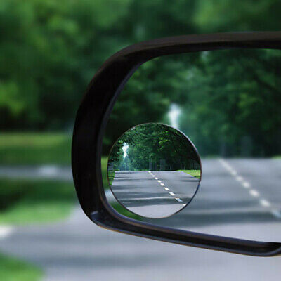 2 Frameless Blind Spot Mirror Wide Angle Round HD Glass Convex Rear View Mirrors