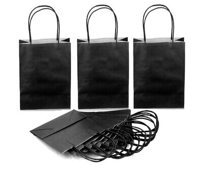 Black Extra Small - Birthday Party Gift Bags / Paper Loot Goody Bag 15x20+8cm