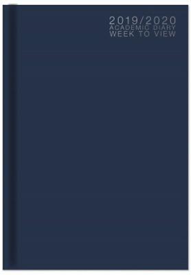 2019-2020 A5 Academic Week To View Case Bound Student Teacher Diary 3195 Blue