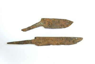 Аncient Iron Artifact Primitive Hand Forged Knife Middle Ages Vikings Kievan Rus