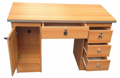 Computer Desk PC Table For Home Office Furniture workstation in Oak with locks