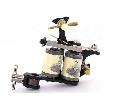 BLACK PROFESSIONAL TATTOO MACHINE for power supply gun pedal & clip cord QUALITY