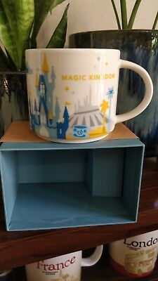 Disney Magic Kingdom V1 You Are Here (YAH) Starbucks Mug. NIB Version 1