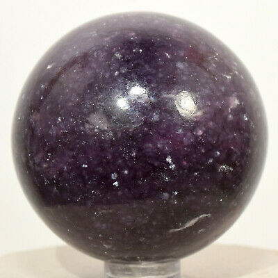 52mm Lepidolite Sphere Deep Purple Natural Sparkling Litha Mica Crystal - Brazil