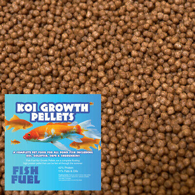 Fish Fuel Koi Growth Food 1kg - 3mm or 6mm - Floating - 42% Protein, Pond Pellet