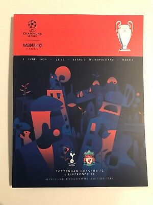 Official Champions League Madrid Final 2019 Matchday Programme Liverpool/Spurs
