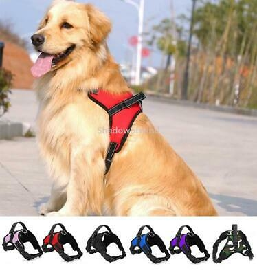 Dog Harness Medium No Pull Adjustable Reflective Nylon Walk Collar with Handle