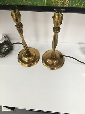 Pair of Vintage Brass Table Lamps Rewired