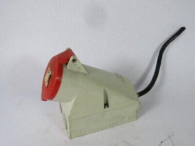 Mennekes 1425 Right Outdoor Female Wall Socket 32A 380-415VAC 4P 6H  USED