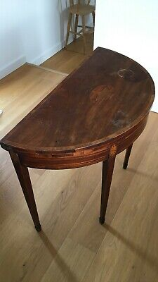 Genuine Victorian Mahogany Bow Front Folding Card Table