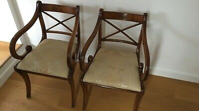 2* Mahogany Georgian Dining Chairs (reproduction)