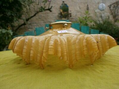 YELLOW Original French Lightshade Vintage Glass Pendant shade Antique SF4