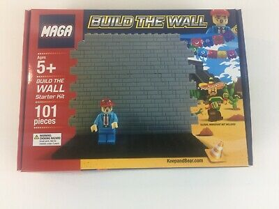 MAGA Lego Build The Wall Donald Trump Keep And Bear Legos NEW Gift