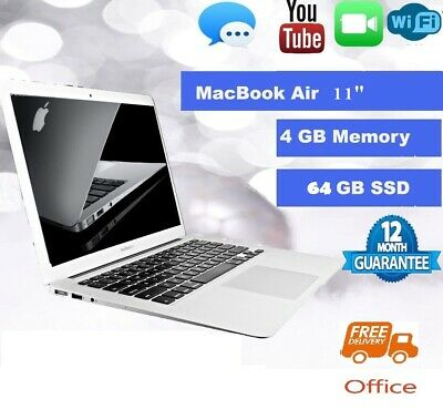 """Apple MacBook Air 11.6"""" (i5) - 4GB RAM / 64SSD - (WITH OFFICE) Good Condition"""