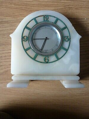 Art Deco Jaeger Le'Coultre Onyx Mantle Clock. Full working Order