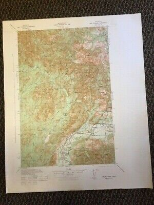 Vintage US Army Corps of Engineers Lake Pleasant Washington 1935 Topographic Map