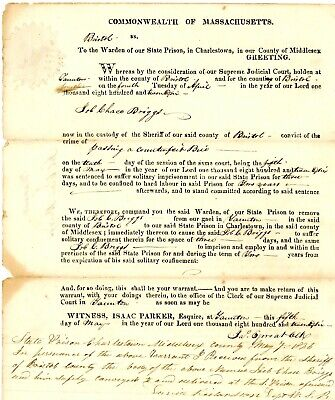 1826 Early American Doc>WARRANT--JOB CHACE BRIGGS FOR PASSING A COUNTERFEIT BILL