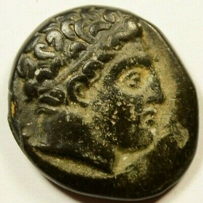 (MONOGRAM) PHILIP II Alexander III father Olympic Games Ancient Greek Coin HORSE