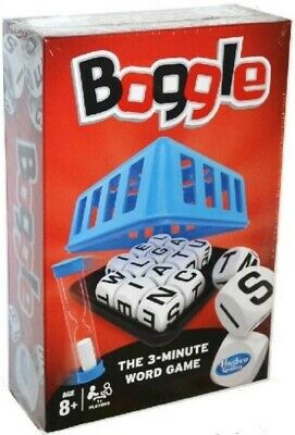 Boggle from Hasbro.  3 Minute Word Game.  Age 8+. Brand New, cellophane sealed.