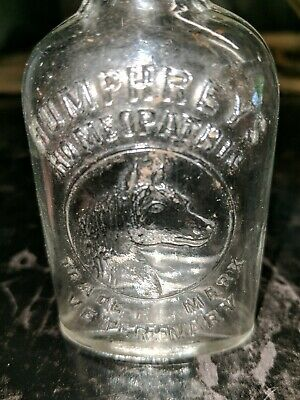 Antique Miniature Pictorial (Horse Head) Humphreys Homeopathic Veterinary Bottle