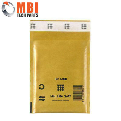 Mail Lite A/000 White Padded Envelopes 100x160mm Gold (Qty = 100)