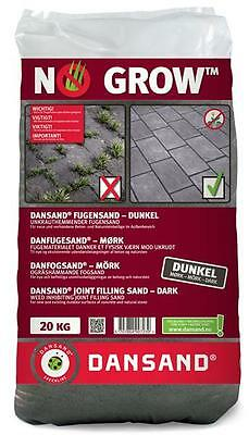 Fugensand Unkrautfrei NO GROW Dansand 1-5 mm 20 kg anthrazit