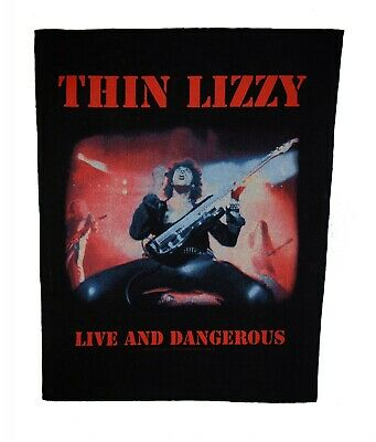 Bn Vintage Thin Lizzy Live And Dangerous X-Large Sew On Back Patch 14 X 12 Inch