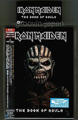 Sigillato! Adesivo Set Iron Maiden The Book Of Souls Giappone 2CD Custodia in