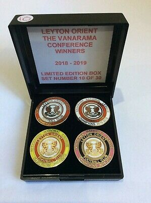 LEYTON ORIENT Football Club Badge FC LTD ED BOX SET NATIONAL LEAGUE CHAMPIONS