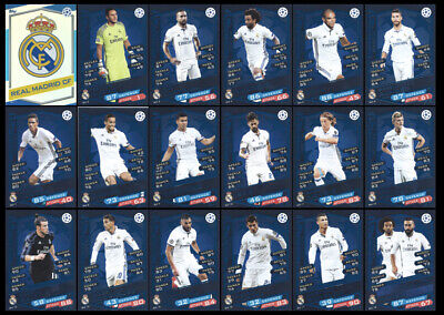 Match Attax Champions League 2016/17 Full 18 Card Team Set Real Madrid