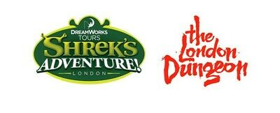 2 X London Dungeon Or Shreks Adventure Tickets / Pick Your Own Date/ Time