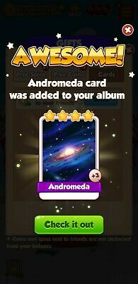 5 X Andromeda:- Coin Master Cards( Fastest Delivery)