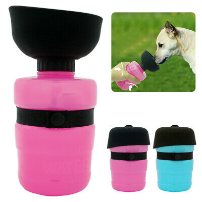 500ml Dog Cat Pet Travel Bottle Cup Drinking Squeezed Water Bowl Portable Blue