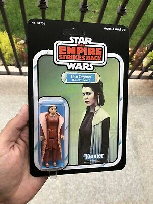 Vintage Star Wars ESB 1980 Leia Organa Bespin Gear Figure on Custom Retro Card