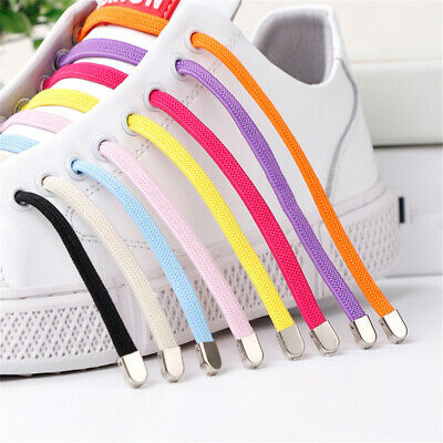 1Pair Free Tie Shoelace Stretch Elastic Lazy Shoelaces Flat Sneaker Shoe Laces