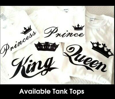 King Queen Prince Princess TShirt Family Vacation Matching Shirt - Plus Size