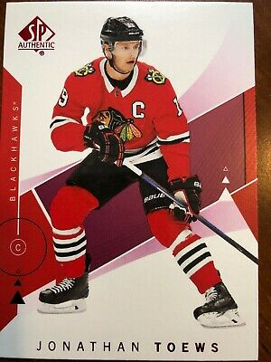 18-19 UD SP Authentic Red Parallel #5 Jonathan Toews