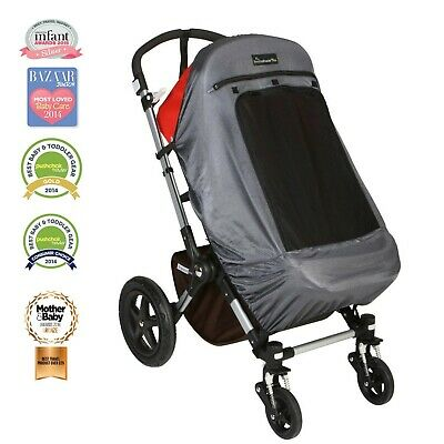 SnoozeShade Plus Deluxe | Universal fit sun shade for strollers | 360-degree ...