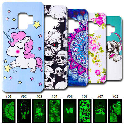 TPU Soft Skin Luminous Glow In The Dark Case Cover For Samsung Galaxy Note 9 S9+