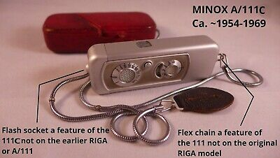 Minox A/111c subminiature spy camera, Wetzlar Germany Ca. ~1954-1969