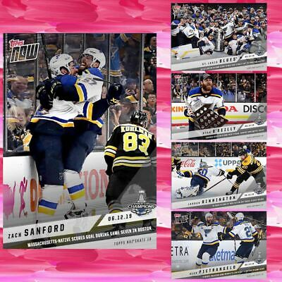 2019 TOPPS NOW STANLEY CUP CHAMPION BASE SET OF 5 CARDS Topps NHL Skate Digital