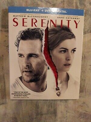 Serenity (2019) (Bluray/DVD, 2-Disc Set)  w/slipcover *NO DIGITAL*