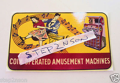 Seeburg V Jukebox Water Release Decal Juke box 50,s USA Coin Amusement Machine -